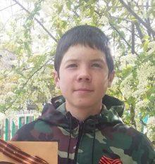 Лебедев Владимир Сергеевич, 13 лет,с. Николаевское